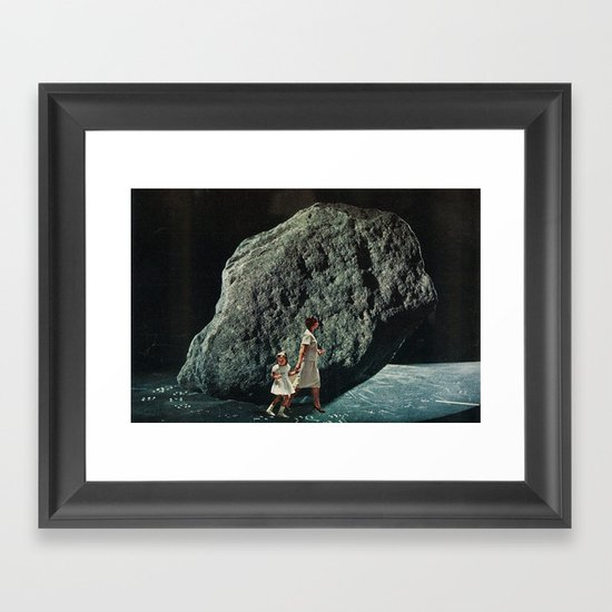 follow me into the dark Framed Art Print