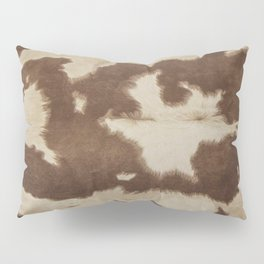 Brown and white cowhide 3 Pillow Sham