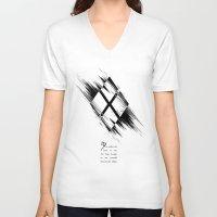 harley quinn V-neck T-shirts featuring Harley Quinn  by irastonem