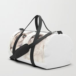 Grumpy Watercolor Cats Duffle Bag