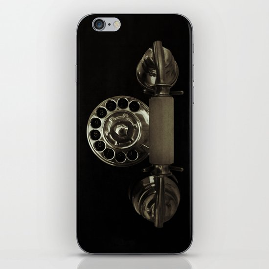 Old rotary dial phone iPhone & iPod Skin