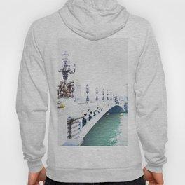 Pont Alexandre III Paris Bridge Watercolor Hoody