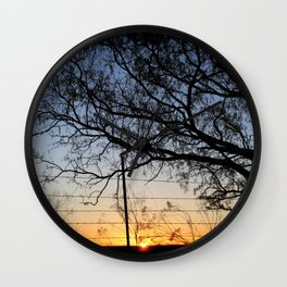 Sunrise 032517 Potosi, Texas Wall Clock