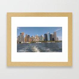 Skyline of NewYork Framed Art Print