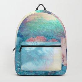 Liquid Garden Flower Grotto Sunset - Blush Ocean Color Backpack