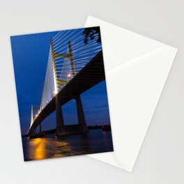 Dames Point Bridge at Twilight Stationery Cards