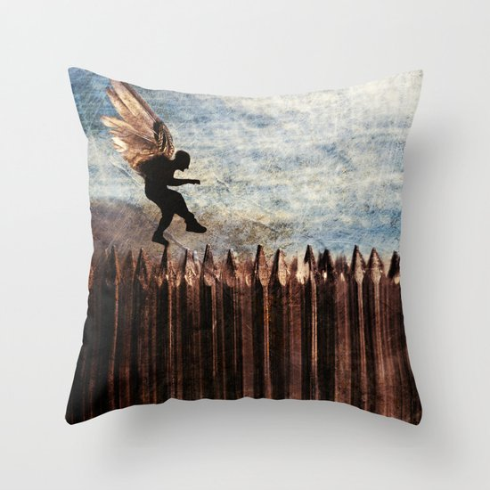 Throw Pillows Newport : The Next Step Throw Pillow by John Magnet Bell Society6