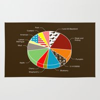 pie Area & Throw Rugs featuring Pie Chart by Graham Dobson