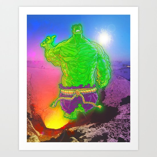 Incredible Hulk Art Print