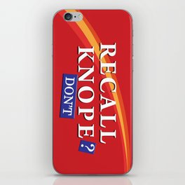 Recall Knope iPhone Skin