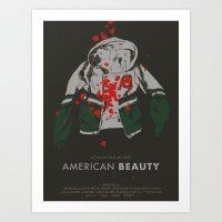 american beauty Art Prints featuring american beauty by Kris L
