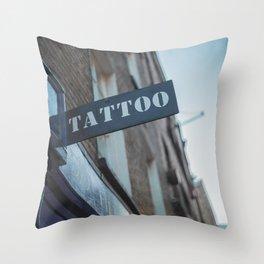 Tattoo Brick Lane Throw Pillow