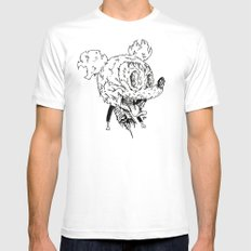 Zombie Mickey Mens Fitted Tee SMALL White