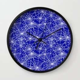 Royal Blue Cobwebs Wall Clock