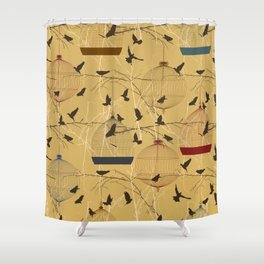 Seamless birdcage composition Shower Curtain