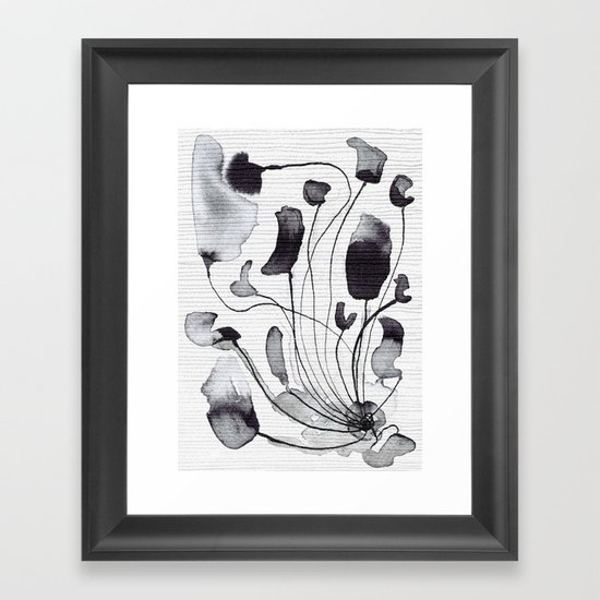 ink flowers Framed Art Print