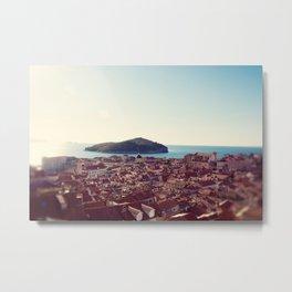 View over Dubrovnik Croatia Metal Print