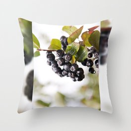Chokeberries or aronia fruits Throw Pillow