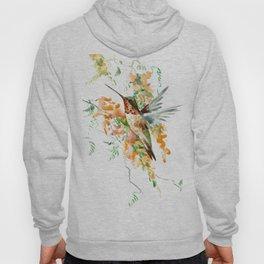 Hummingbird and orange flowers Hoody