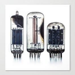 Vintage  Vacuum Tubes Canvas Print