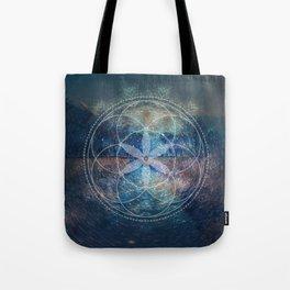 Sacred Geometry Universe X Tote Bag