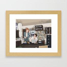 Teen Wolf X-Files AU (Stiles Stilinski & Lydia Martin) Framed Art Print