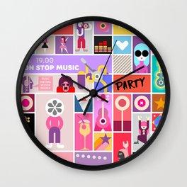Rock Concert Poster Wall Clock