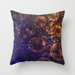 Mirages. Blurred background Lenses, bubbles Throw Pillow