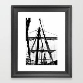 Ships Masts Framed Art Print