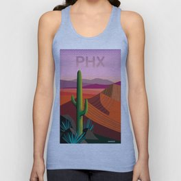 Phoenix Arizona Travel Poster Unisex Tank Top
