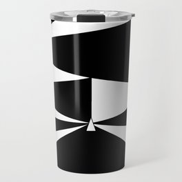 Triangles in Black and White Travel Mug