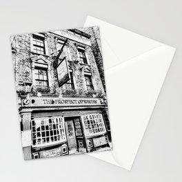 Prospect of  Whitby Pub London 1520 art Stationery Cards