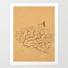 Dry Brain Art Print