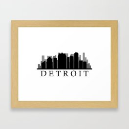 detroit skyline Framed Art Print