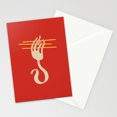 Fork & Pasta Stationery Cards