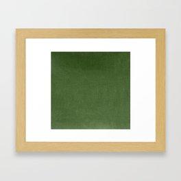 Sage Green Velvet texture Framed Art Print