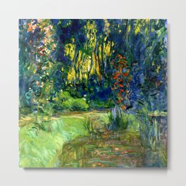 """Claude Monet """"Water lily pond at Giverny"""", 1919 Metal Print"""