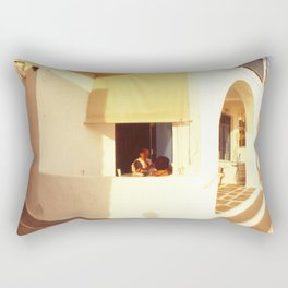 Old woman in her home Rectangular Pillow