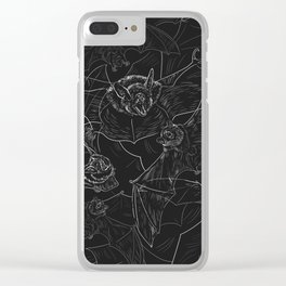 Bat Attack Clear iPhone Case