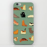 fat iPhone & iPod Skins featuring Fat Cats by Kecky