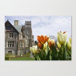 Castle Tulips Canvas Print