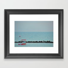 Between Sea and Sky Framed Art Print