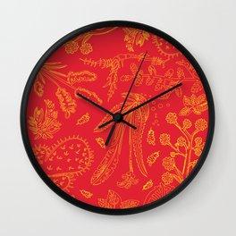 Flora Pattern Wall Clock