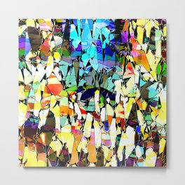 Colorful Abstract Shapes 1 Metal Print