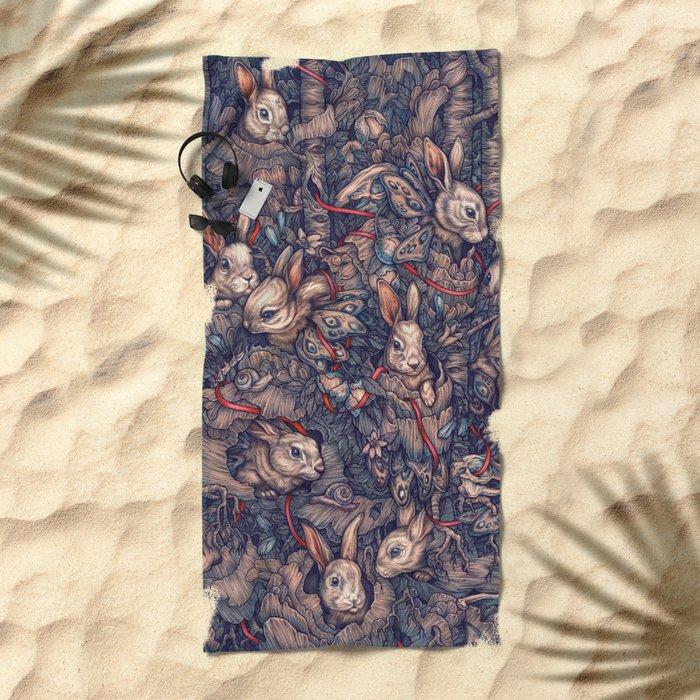 Bunnerflies Beach Towel