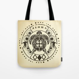 Tribal Aloha Mandala Tote Bag