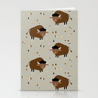 buffalo Stationery Cards featuring Buffalo by Heleen van Buul