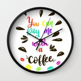 Mmm Coffee Wall Clock