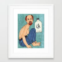 louis ck Framed Art Prints featuring Louis CK One by Markerpiece Theater