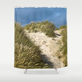 Scandinavian Sand Dune of Henne in Denmark Shower Curtain
